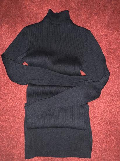 Nova zimska mini crna haljina