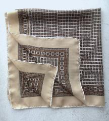 marama svilena braon drap 68x65 cm