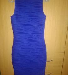Kraljevsko plava haljina kao nova s/m