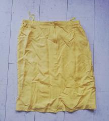 Žuta suknja pencil
