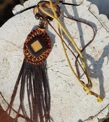 Kožna ogrlica Zulu (Prirodna koža)