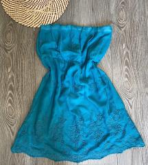 Letnja tirkizna top haljina S/M