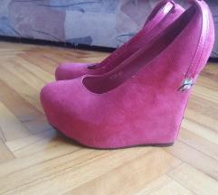Pink cipele platforma
