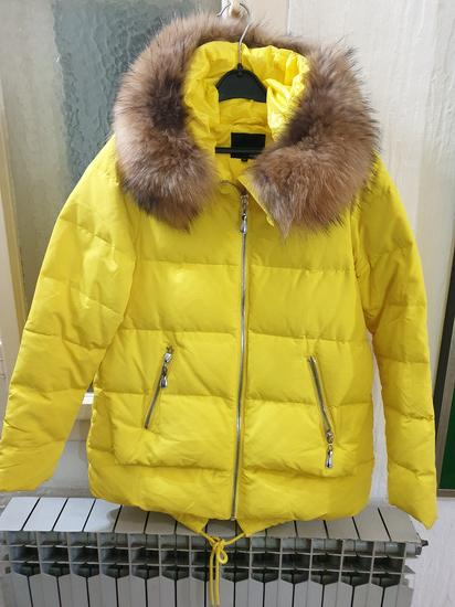 Zimska perjana jakna sa prirodnim krznom NOVA