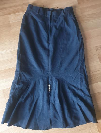 Crna DUGACKA suknja 100% VUNA s-m