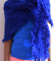 Indigo (kraljevsko) plavi sal / ponco