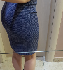 Elegantna teget suknja do kolena XS/S SNIZENA!!!