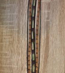 Kožna narukvica-ogrlica ChainPeril(Prirodna koža)
