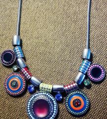 Eklekticna, moderna metalna ogrlica, u 2 boje