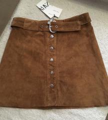 Zara kozna suknja - NOVO snizena na 1999 din