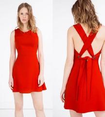 Zara crvena haljina bez leđa (Popust!)