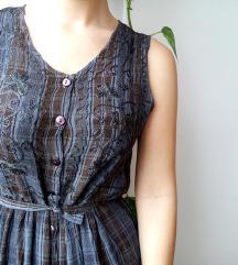 GAP karirana vintage haljina