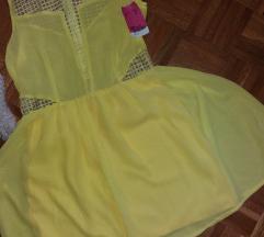 Nova haljina sa etiketom limun zuta