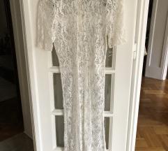 Bela cipka haljina