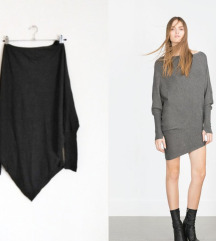Zara asimetrican dzemper/haljina