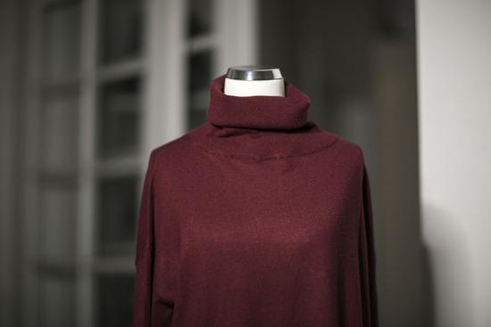 Bordo baggy CLP zimska haljina, vel. M