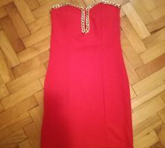 Crvena sexy haljina sa lancima