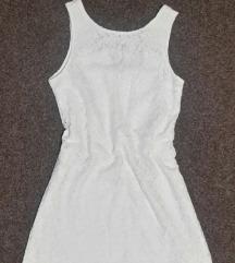 AMISU prelepa bela haljina,doneta iz Nemacke,M/L.