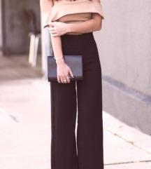 elegantne braon  zvono pantalone