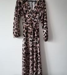 Animal print dugacka haljina