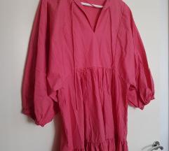 Oysho nova midi roze haljina