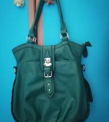 Tamno zelena prelepa torba