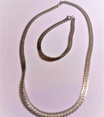 komplet ogrlica + narukvica 925