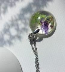 Unikatna ogrlica od epoxy smole - ručni rad ♡