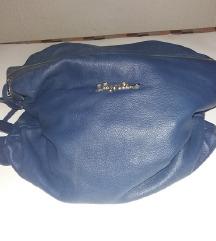 JACKIE CELINE velika plava kožna torba