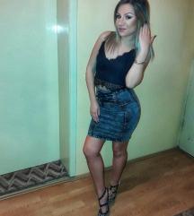 Amisu teksas suknja