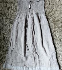 DANAS 400✿ Siva lepršava haljinica, vel. S