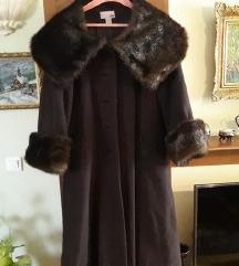 H&M damski braon kaput kao nov 100% vuna