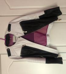 Crno bela kozna jakna