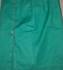 Zelena suknja LIndex (high waist) nova
