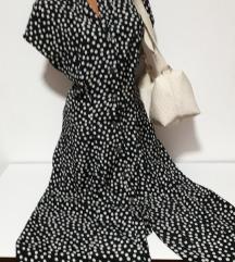 Crno bela letnja haljina vel M