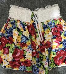 Cvetna kratka suknjica