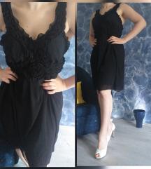 Crna svečana haljina od viskoze