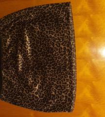 Animal print suknja