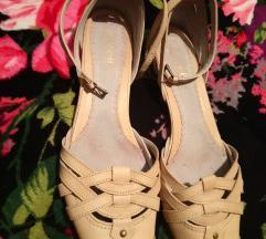 Boreli krem kozne sandale
