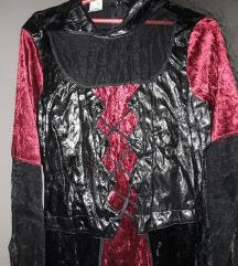 Gothic Vamp haljina 42/44 XXL zamena moze