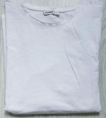 Klasična bela pamučna majica 2XL-3XL