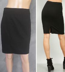 H&M crna poslovna pencil suknja