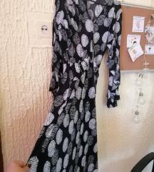 P.S. fashion crna haljina sa printom