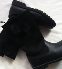 H&M crne čizme za devojcice.