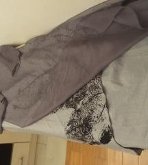 Prelepa oslikana haljina SVILA PAMUK VISKOZA M/L