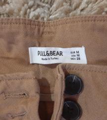 Pull and bear caramel pantalone