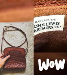Kozna markirana torbica sa dugim kaisem