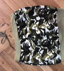 Majica crop top bez rukava