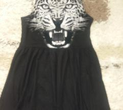 Crna print haljina
