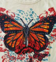 CRACHONE majica  sa leptirima vel. S